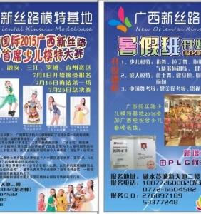 泉·杏国际2015广西新丝路中国首席少儿模特大赛报名开始啦