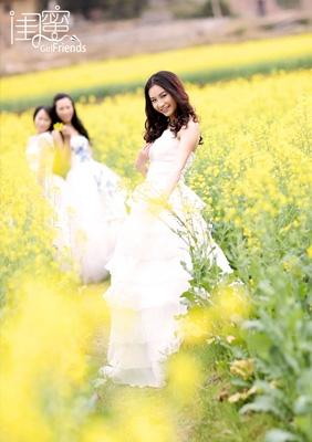 黄花闺蜜-----爱琴海婚纱写真摄影作品