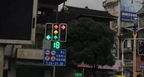 五岔路口红绿灯图解