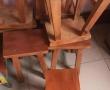 工厂搬迁,现有二手松实木凳子40个和工作台