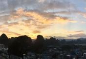 今天黄昏的日落